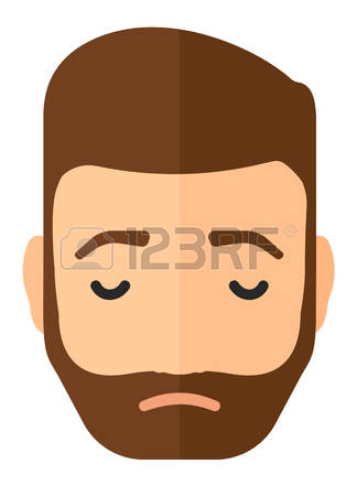 Clipart man in anguish.