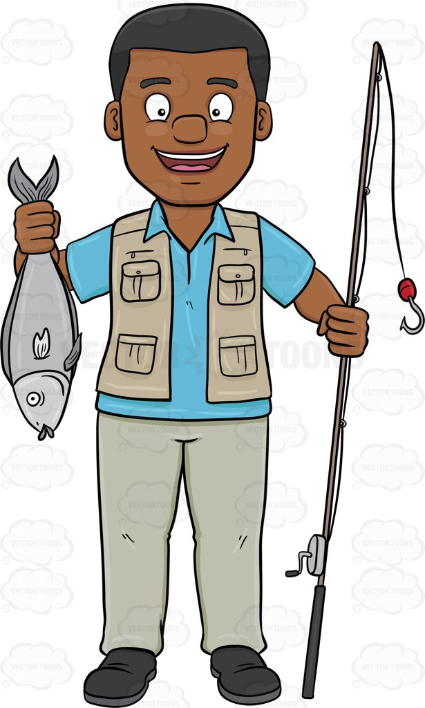 Man In Waders Clipart.