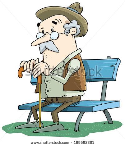 Man Sitting On Bench Stock Vectors, Images & Vector Art.