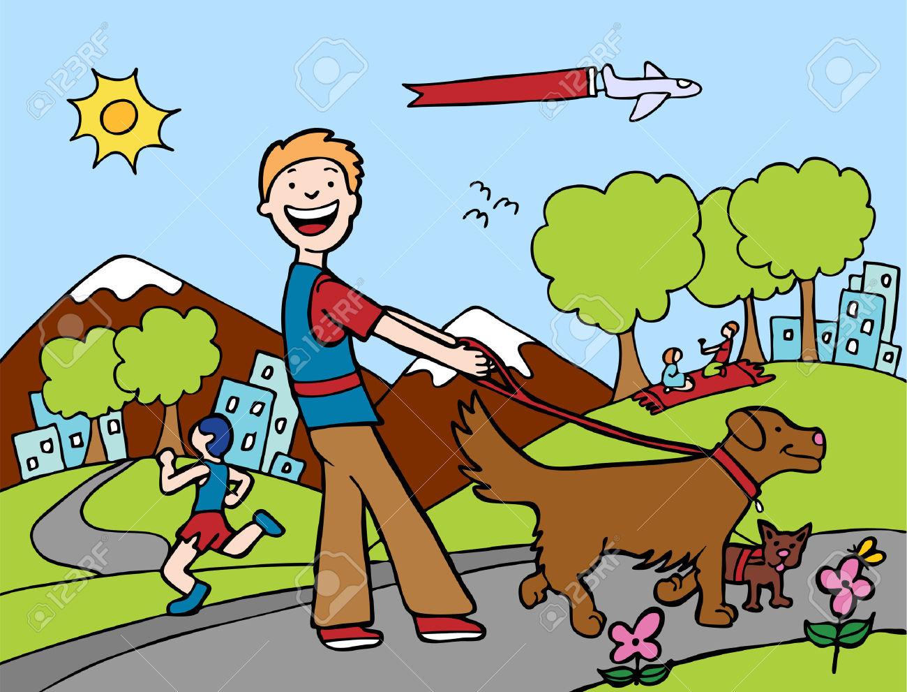 Showing post & media for Cartoon dog park clip art.