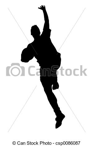 Stock Illustrations of Jumping silhouette.