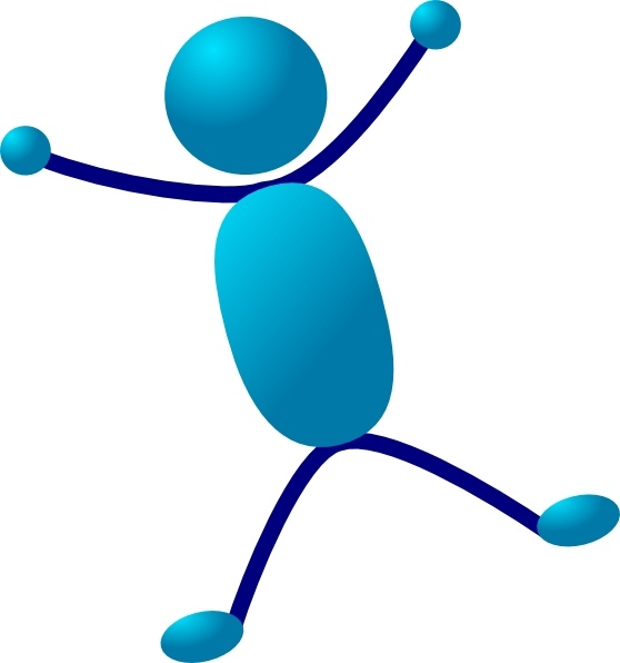 Stick Man Hurray Jumping clip art Free vector in Open office.
