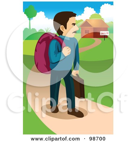Leaving House Clip Art.