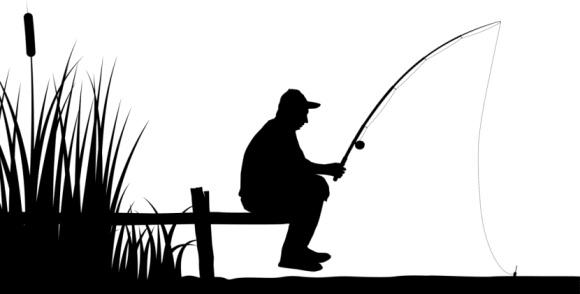 Clipart Man Lookin At Fish.