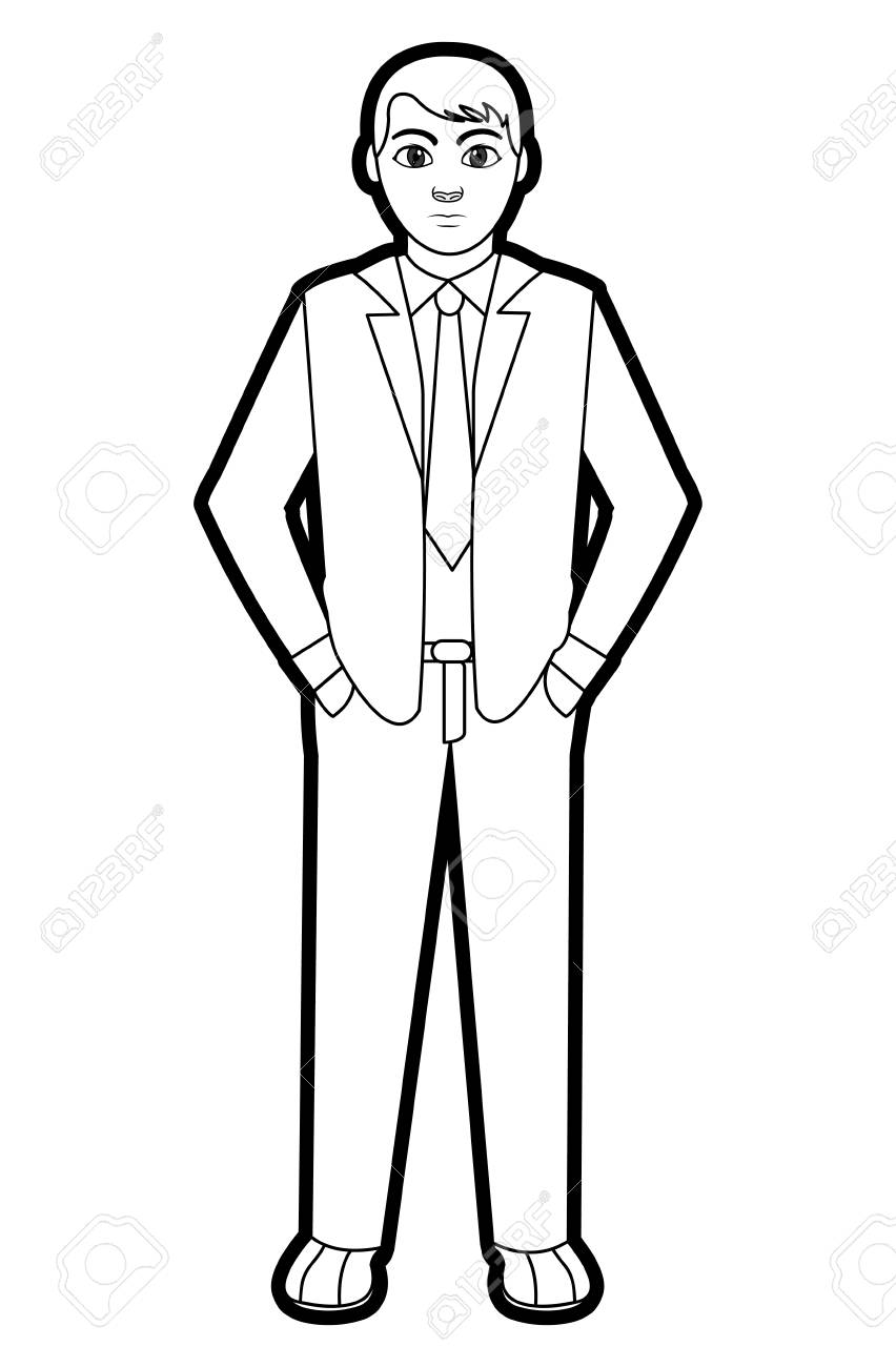 Outline Of A Man Free Download Clip Art.