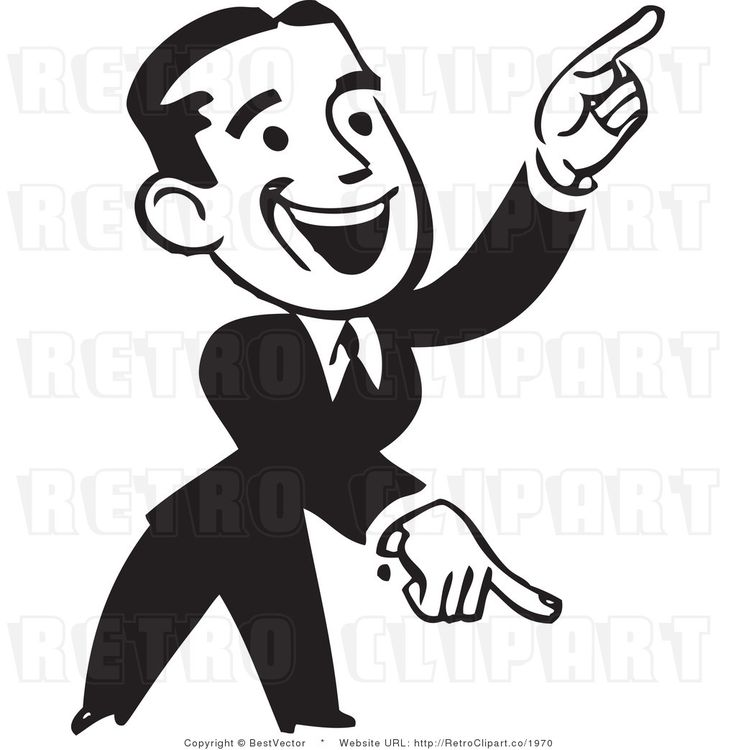Pointing Fingers Clipart.