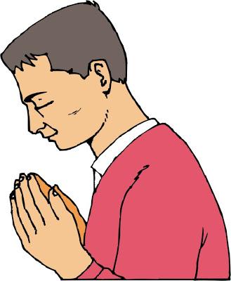 6633 Praying free clipart.