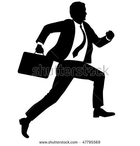 Businessman Briefcase Run Upstairs Stock Vector 47795569.