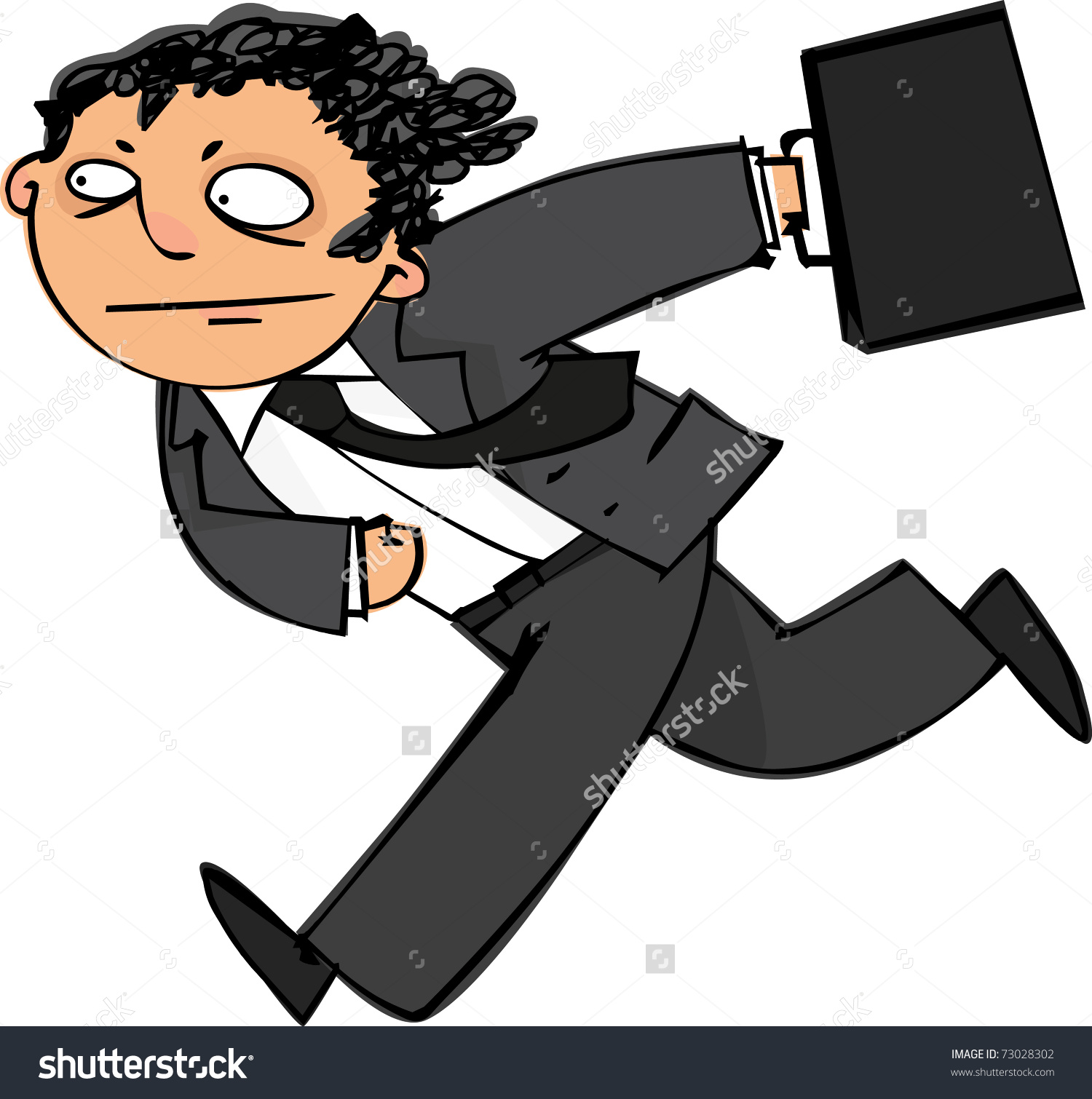 Showing post & media for Running man with briefcase cartoon.