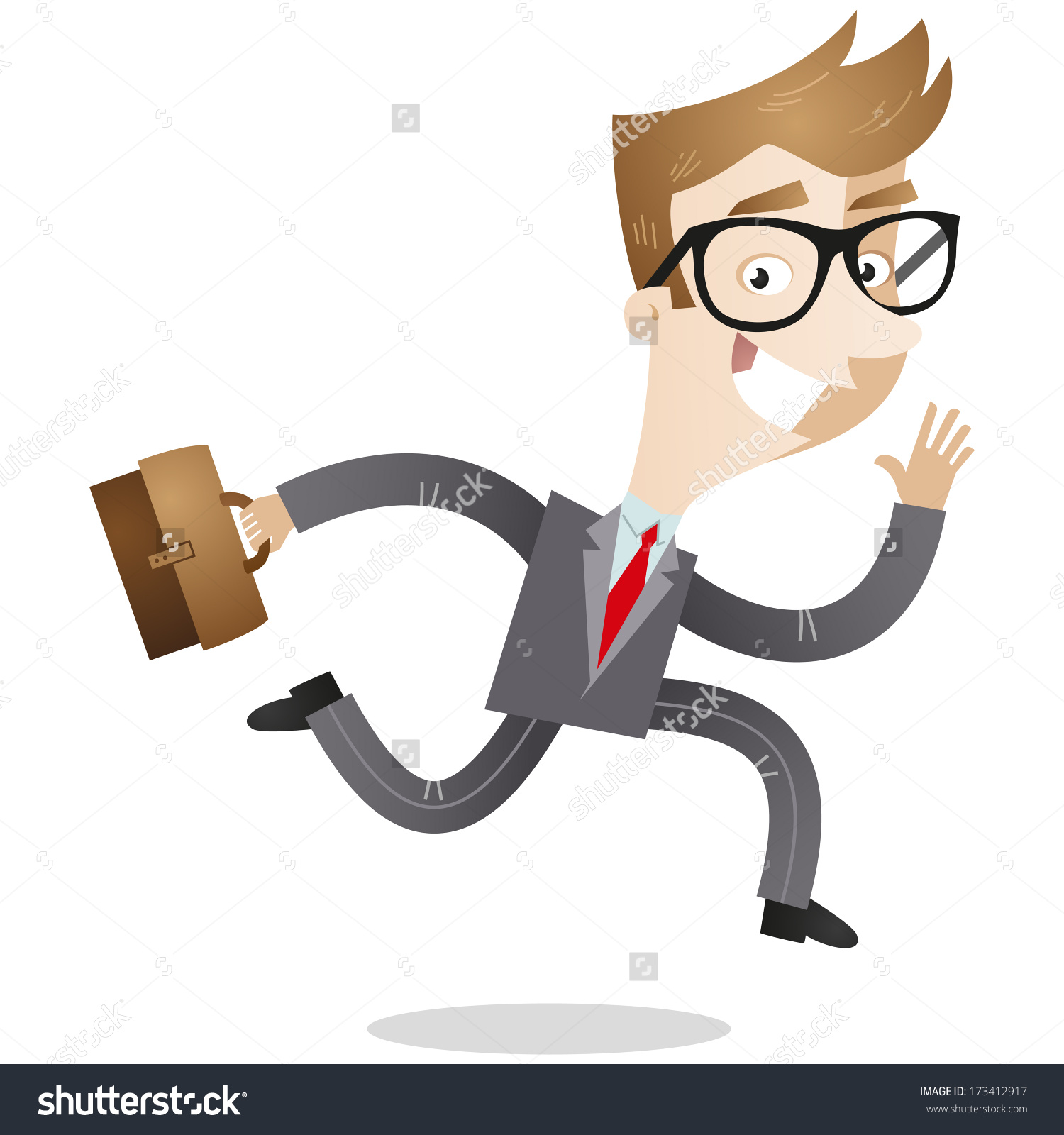 Showing post & media for Cartoon business man with briefcase.