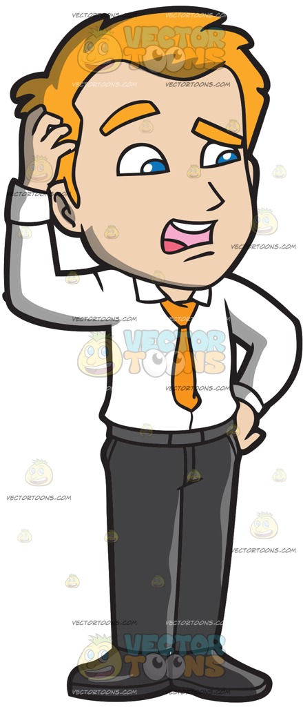 Man Scratching His Head Clipart & Free Clip Art Images #21342.