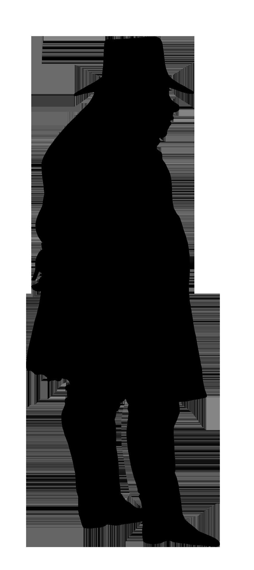 Victorian Silhouette Clipart.