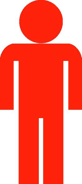 Red Man Symbol Clip Art at Clker.com.
