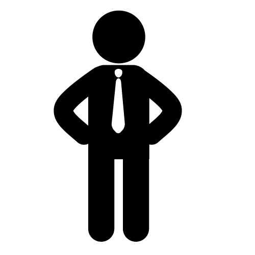 Business Man Symbol Clipart.