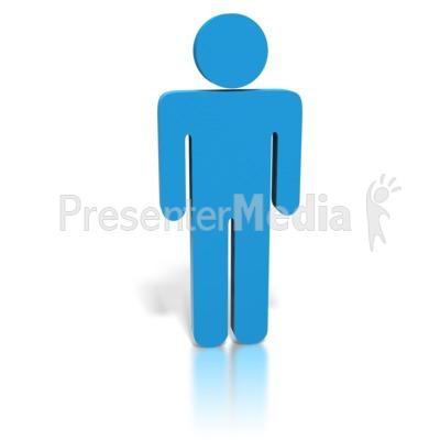 Blue Stick Figure Man.