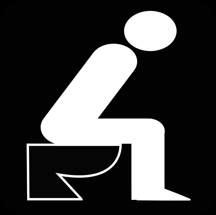 Man, Toilet.