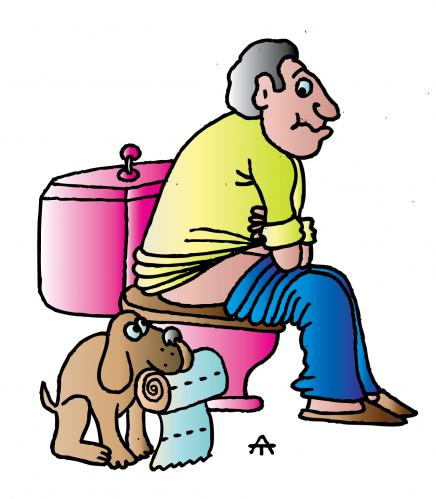 Showing post & media for Cartoon person using toilet.