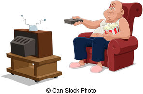 Man watching tv Illustrations and Clipart. 730 Man watching tv.