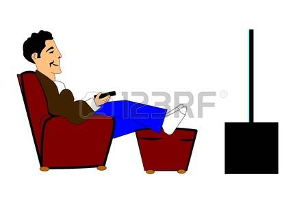 991 Man Watching Tv Cliparts, Stock Vector And Royalty Free Man.