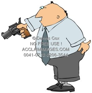 Showing post & media for Cartoon gunman clip art.