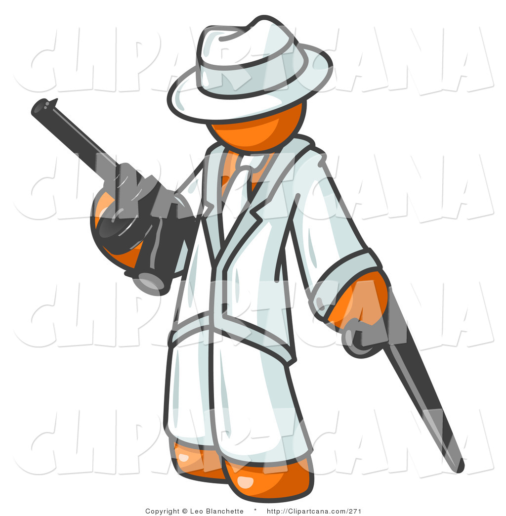 Free Clipart Man With Gun.