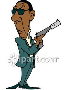 Man With Gun Clipart.