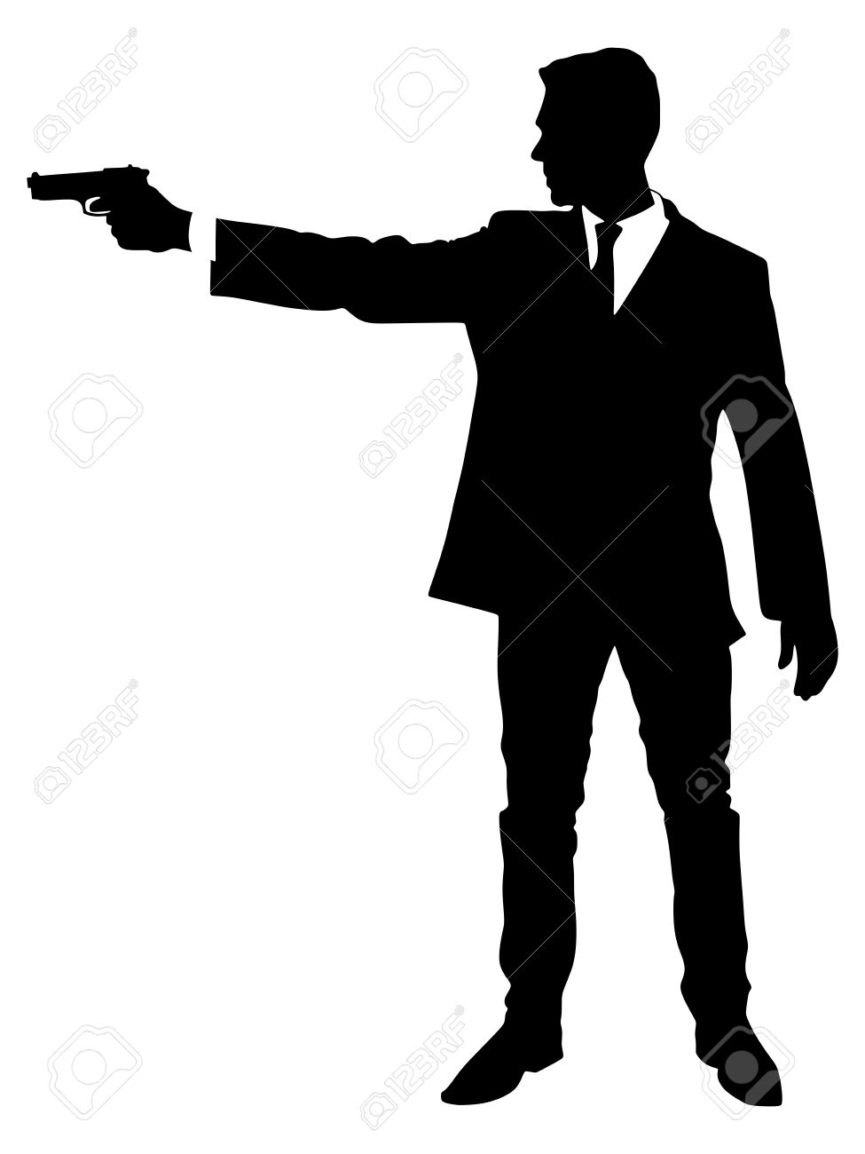 Man Shooting Gun Clipart.