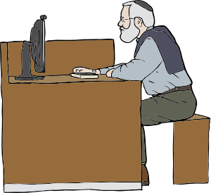 Man Working On Computer clip art Free Vector / 4Vector.