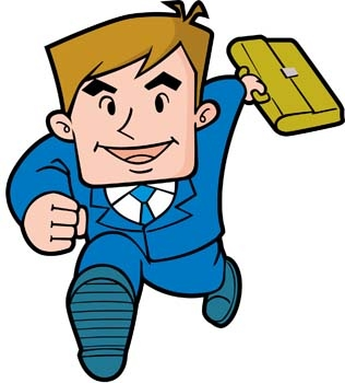 Working Man In Office Clipart.