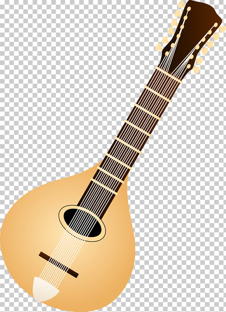 Mandolin Musical instrument Lute , Colored String s PNG.
