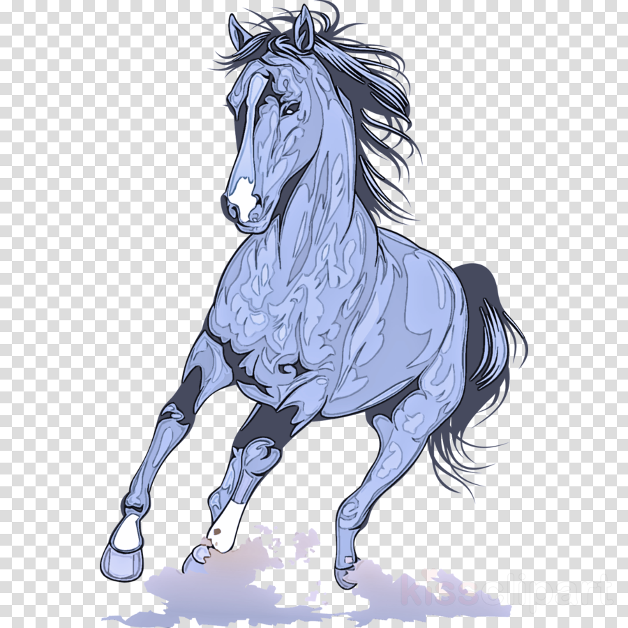 horse mane animal figure drawing stallion clipart.