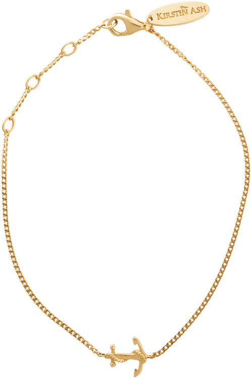 Gold Anchor Bracelet Etsy.