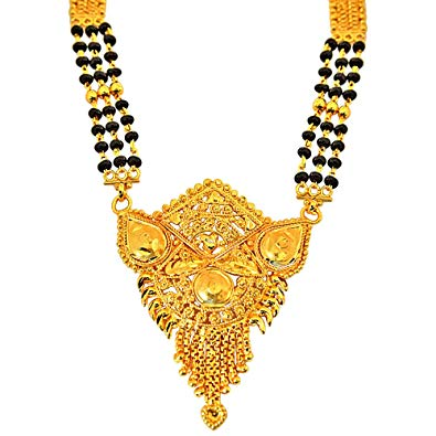 Buy Surat Diamonds Traditional Gold Plated Mangalsutra.