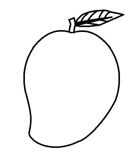 Mango Clipart black and white 2.