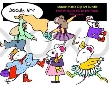 Mouse Mania Clipart Bundle.