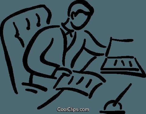 Schreibtisch Clipart.