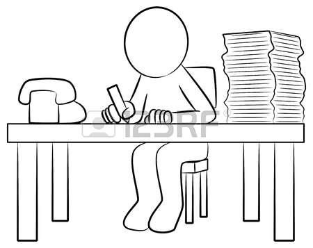 Mann Schreibtisch Lizenzfreie Vektorgrafiken Kaufen: 123RF.