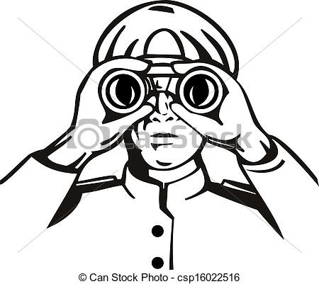 Clipart Fernglas.