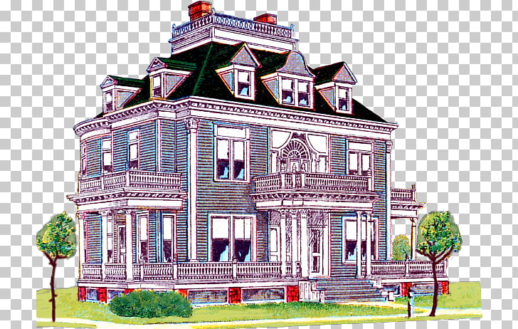 Mansion House Coloring book Label, house PNG clipart.