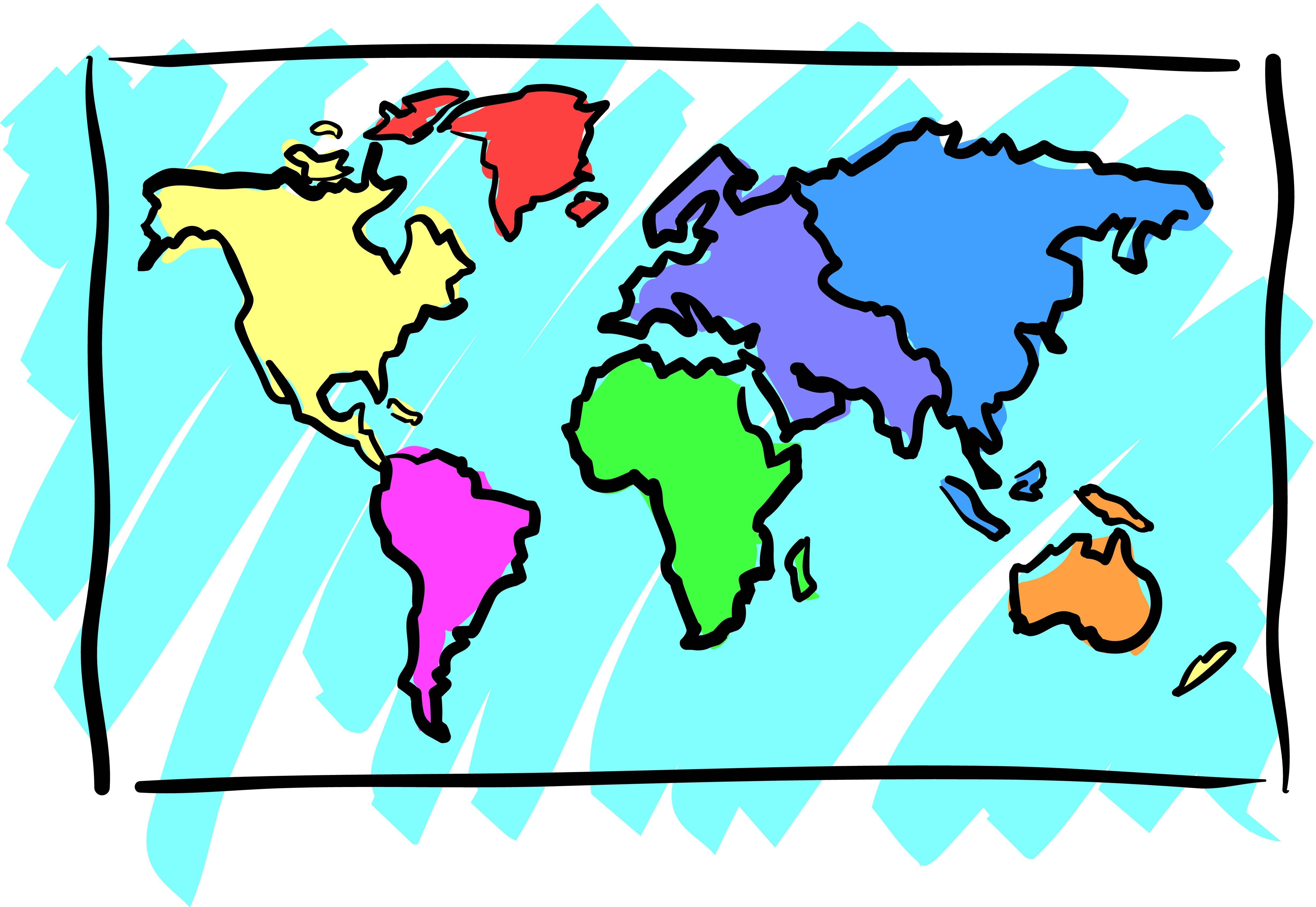 Map Globe Clipart.