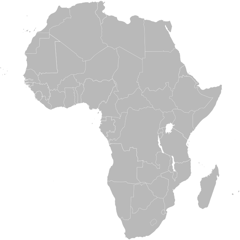 Free Clipart: Map of Africa showing Ethiopia.