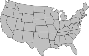 United States Of America Map Outline Gray Clip Art at Clker.