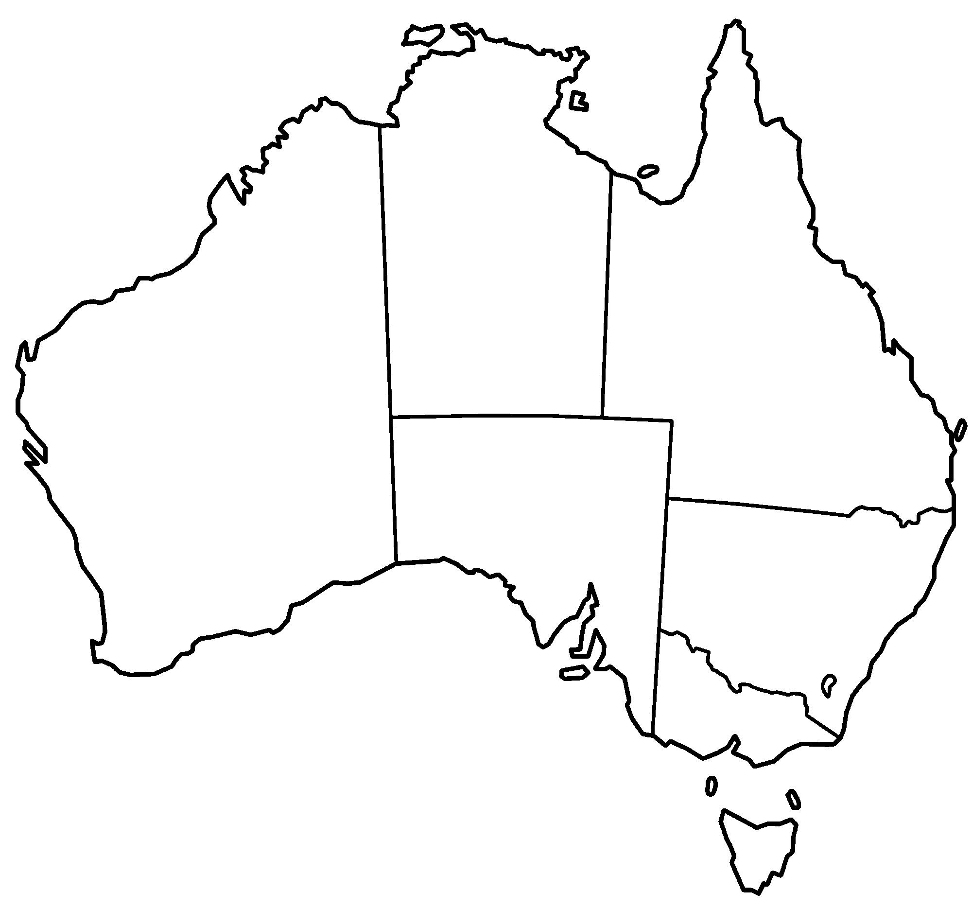 blank australia map.