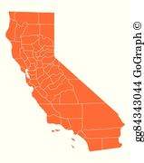 Map California Clip Art.
