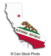 Map of California clipart.