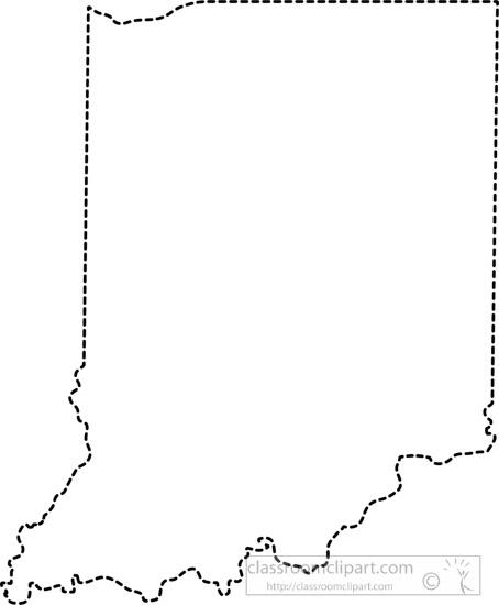 US State Black White Maps : indiana.