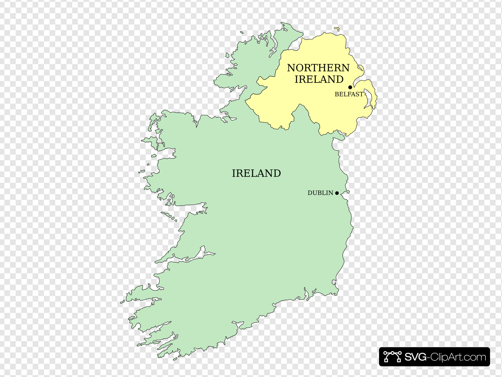 Simple Ireland Map Clip art, Icon and SVG.