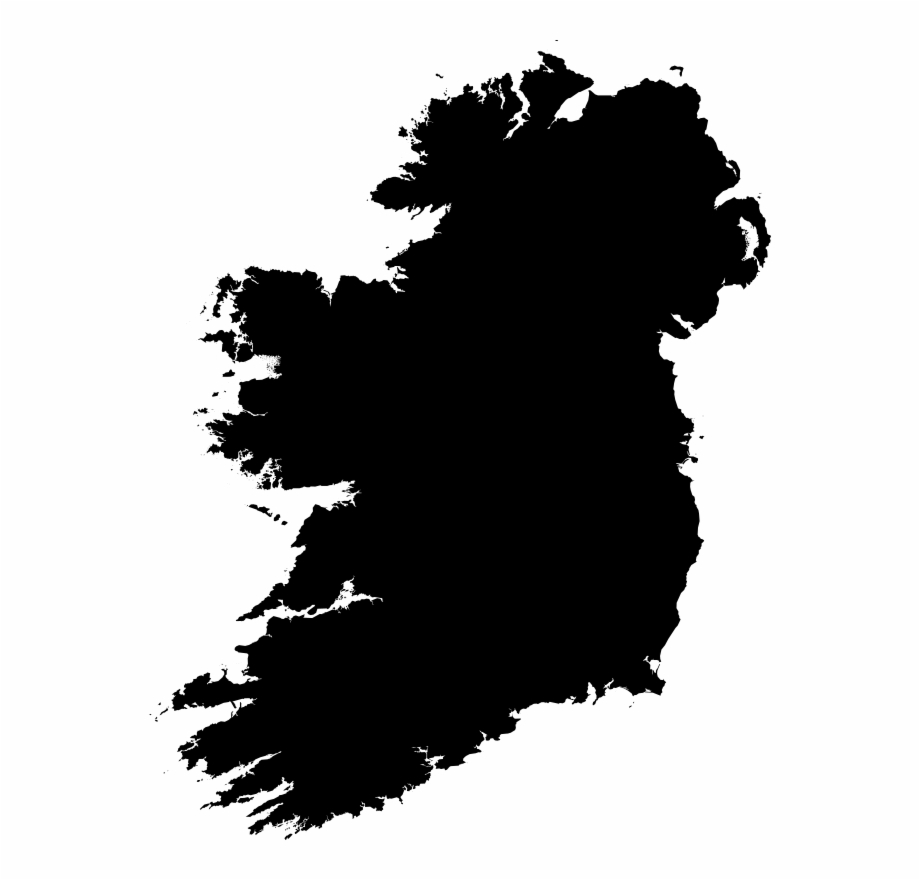 Clipart Ireland Silhouette Png Map Of Ireland.