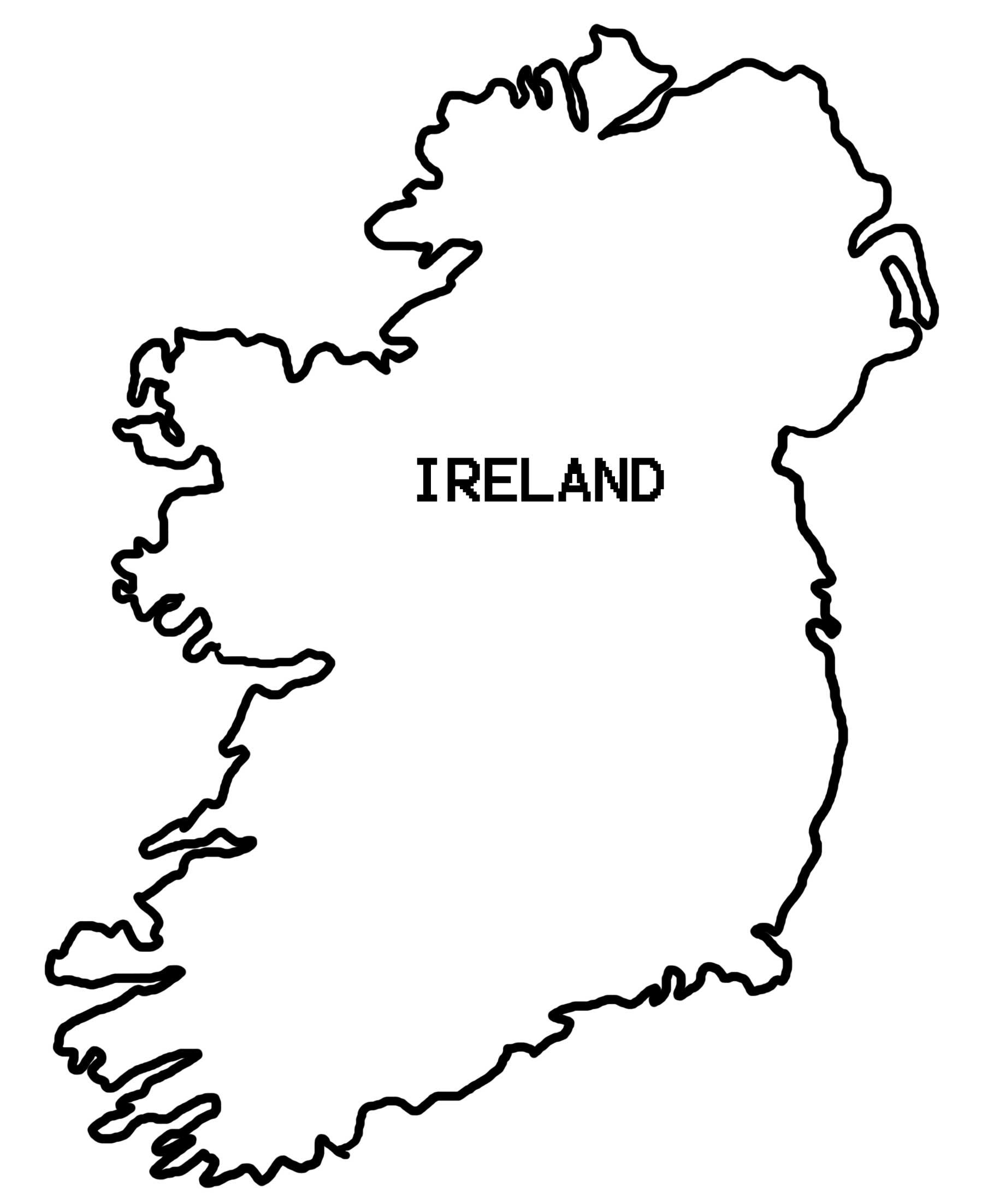 Drawing Ireland Map Outline 52 For Your Free Online with.
