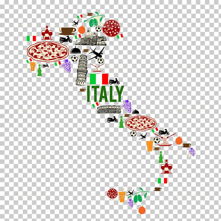 Italy Map Symbol, italy landmark PNG clipart.